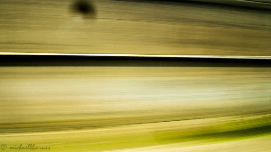 The speed of the train.