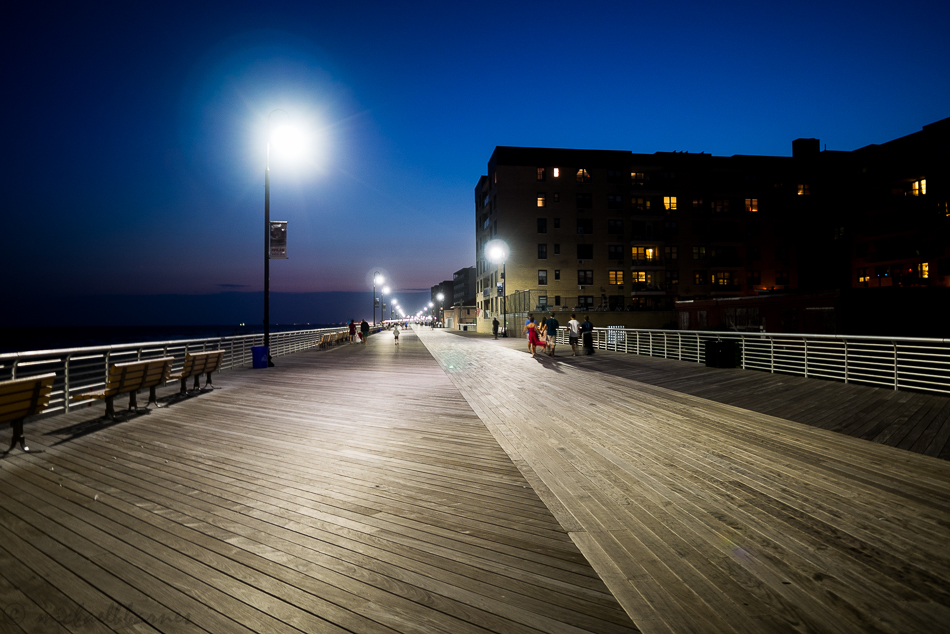 Walking the boardwalk after diner.