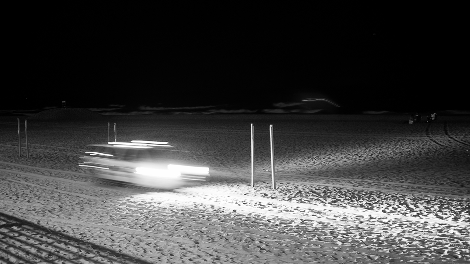 Beach Patrol at night